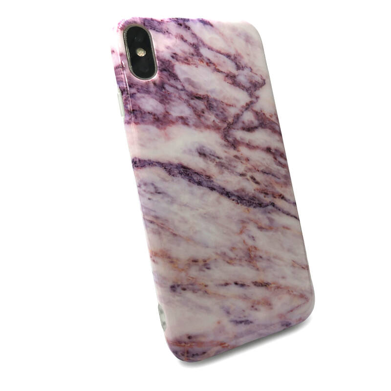 Marmer Backcover voor de iPhone Xs Max - Roze