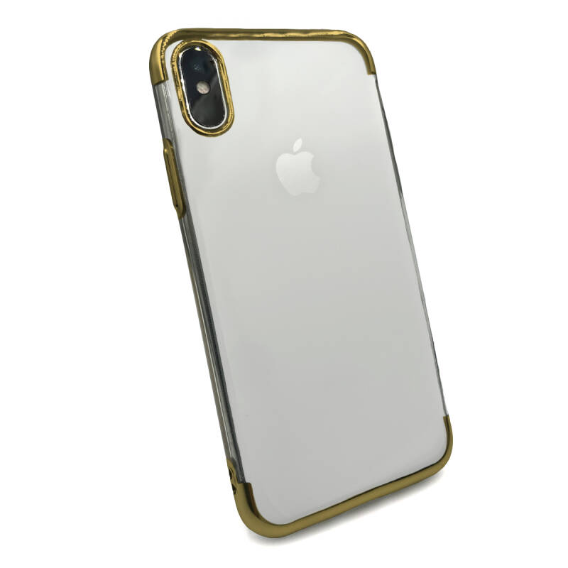 Clear accent hoesje voor de iPhone Xs Max - Goud transparant