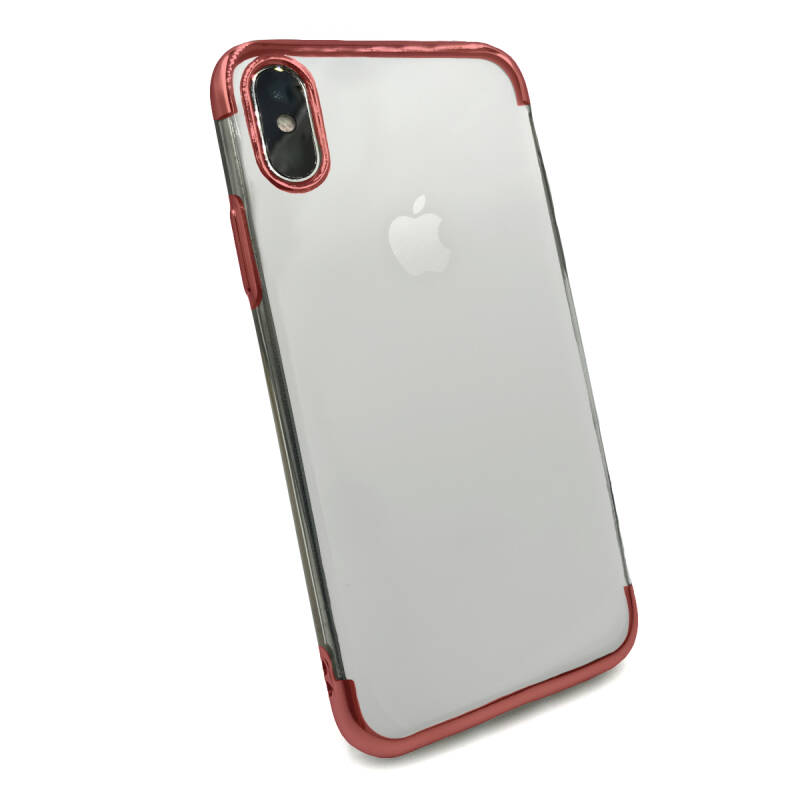Clear accent hoesje voor de iPhone X / Xs - Rood transparant