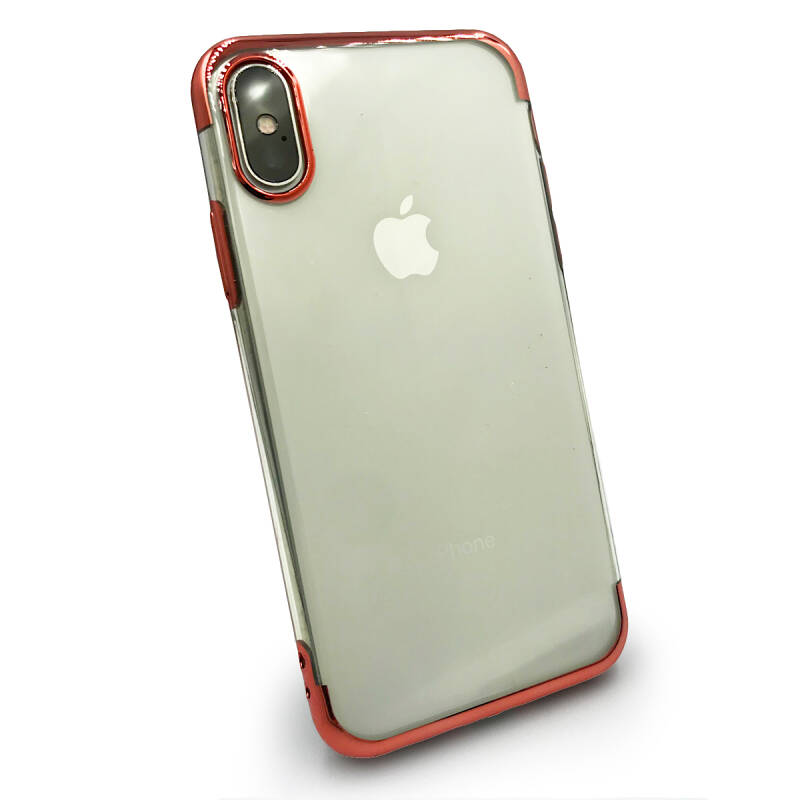 Clear accent hoesje voor de iPhone X / Xs - Rosé goud transparant