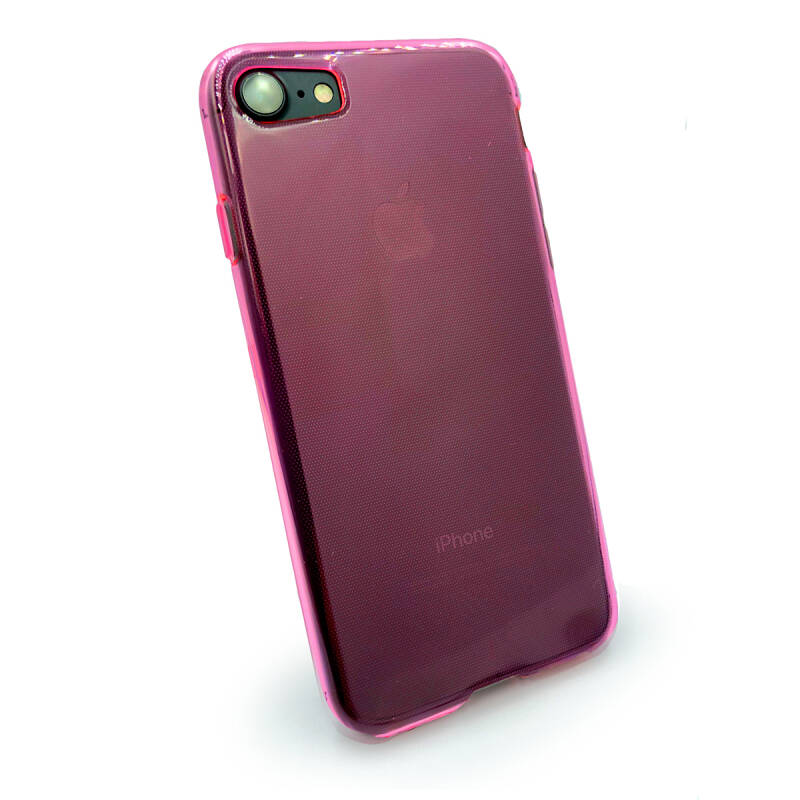 Clearskin Backcover, hoesje voor de iPhone SE (2020) / 8 / 7 - Roze transparant