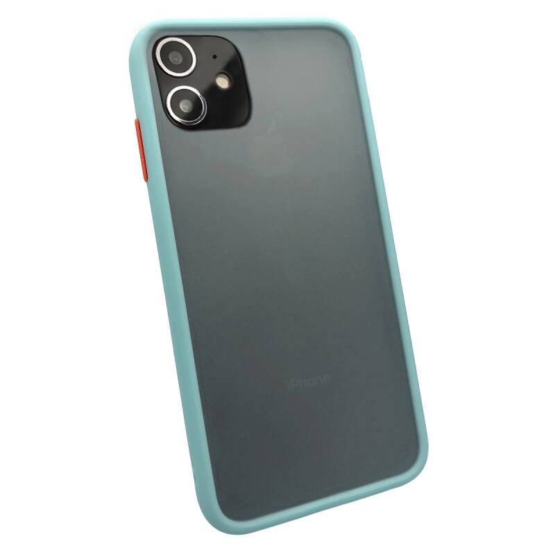 Colorbutton Backcover voor de iPhone 11 - lichtblauw
