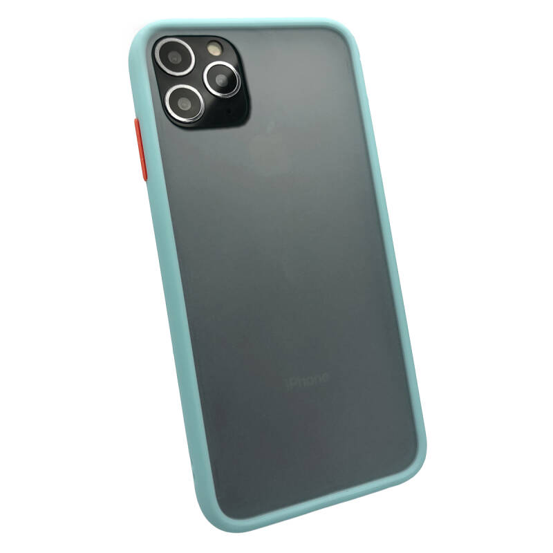 Colorbutton Backcover voor de iPhone 11 Pro Max - lichtblauw
