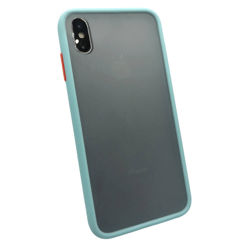 Colorbutton Backcover voor de iPhone Xs Max - lichtblauw
