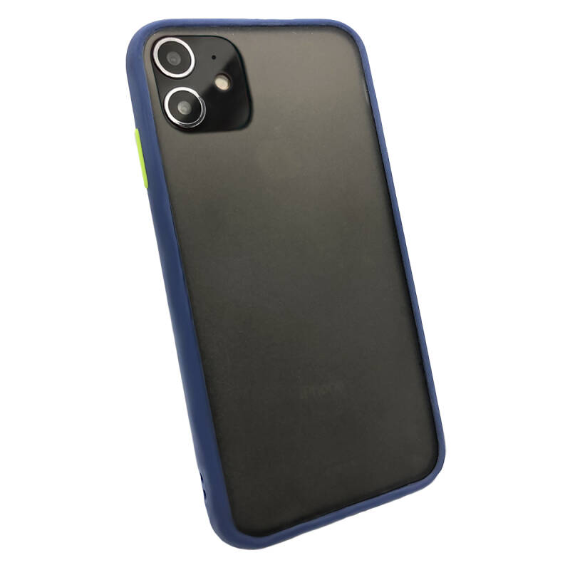 Colorbutton Backcover voor de iPhone 11 - donkerblauw