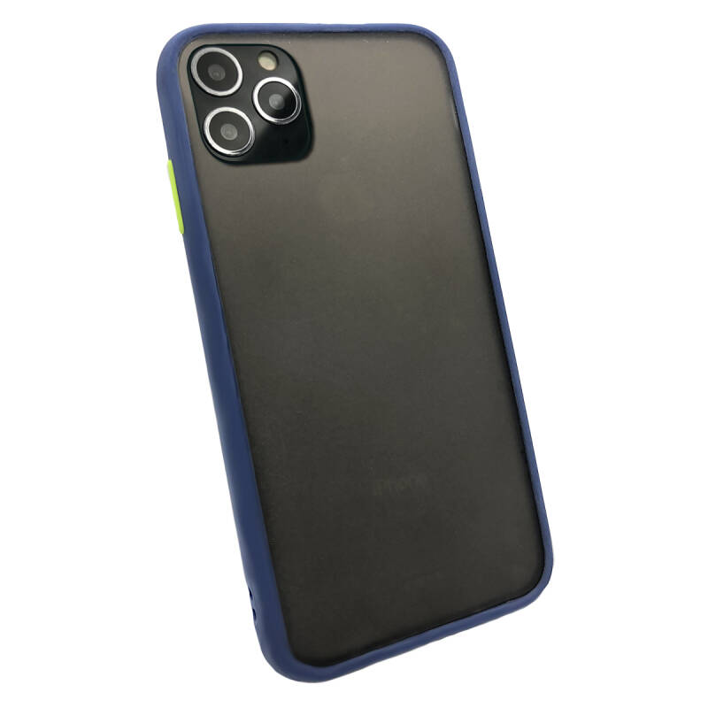 Colorbutton Backcover voor de iPhone 11 Pro Max - donkerblauw