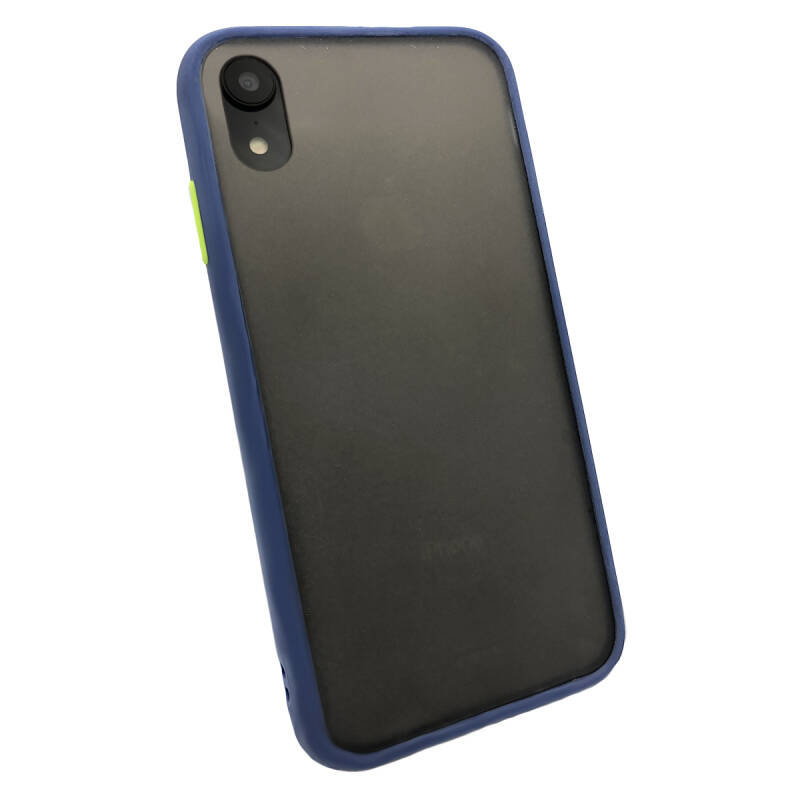 Colorbutton Backcover voor de iPhone XR - donkerblauw