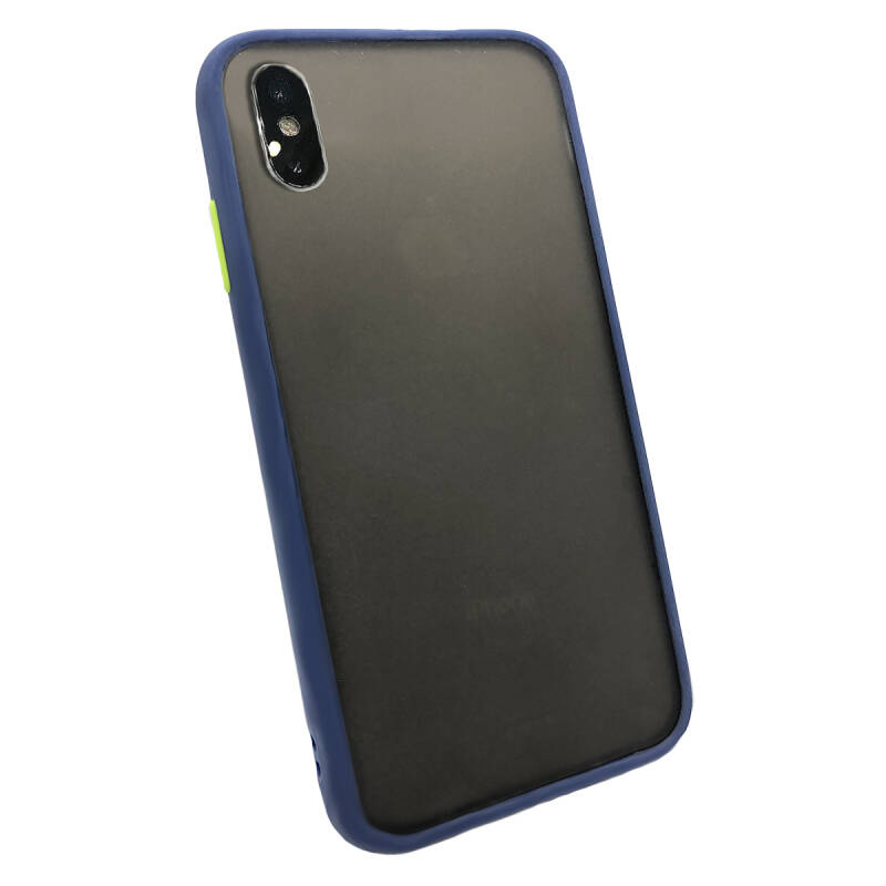Colorbutton Backcover voor de iPhone X / Xs - donkerblauw