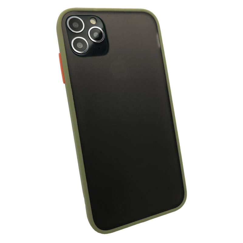 Colorbutton Backcover voor de iPhone 11 Pro - groen