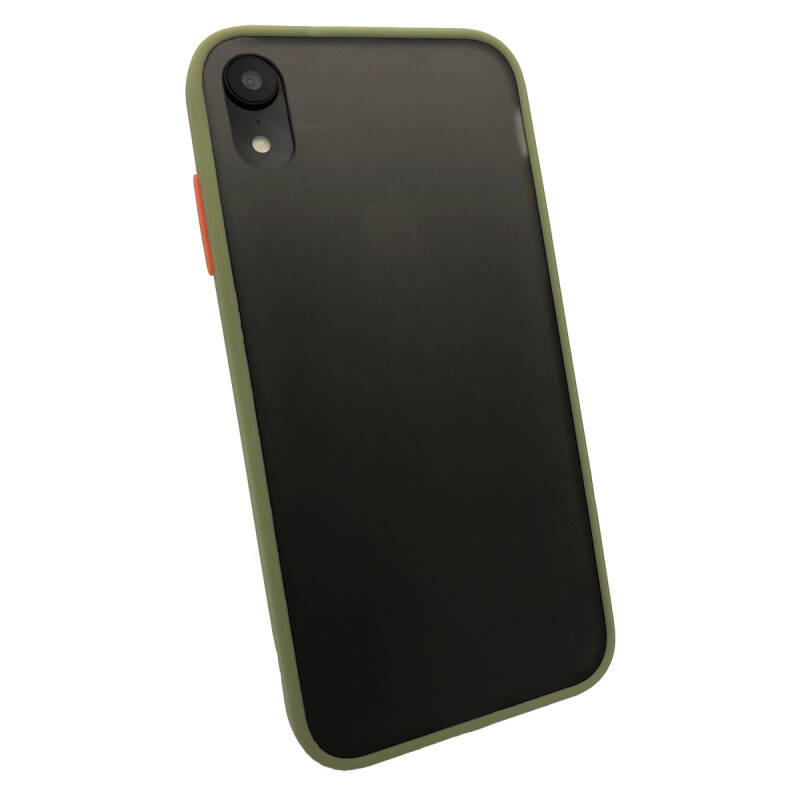 Colorbutton Backcover voor de iPhone XR - groen