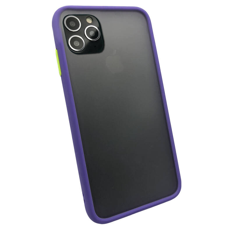 Colorbutton Backcover voor de iPhone 11 Pro Max - paars