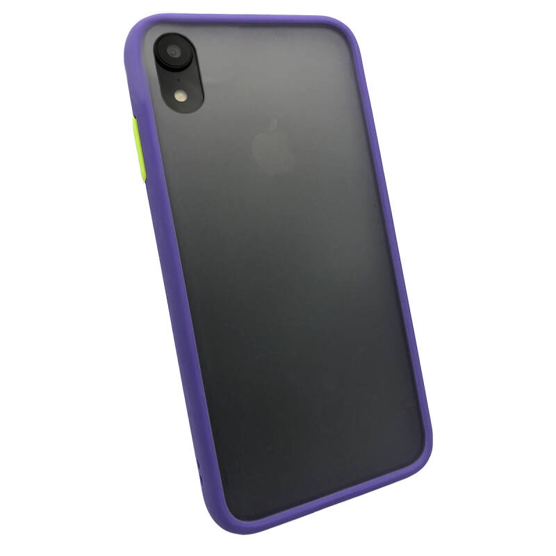 Colorbutton Backcover voor de iPhone XR - paars