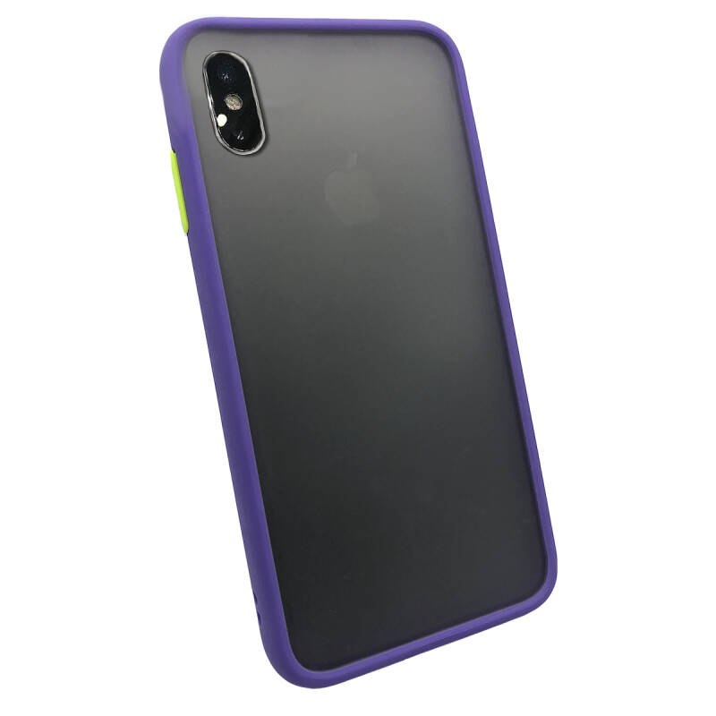 Colorbutton Backcover voor de iPhone Xs Max - paars