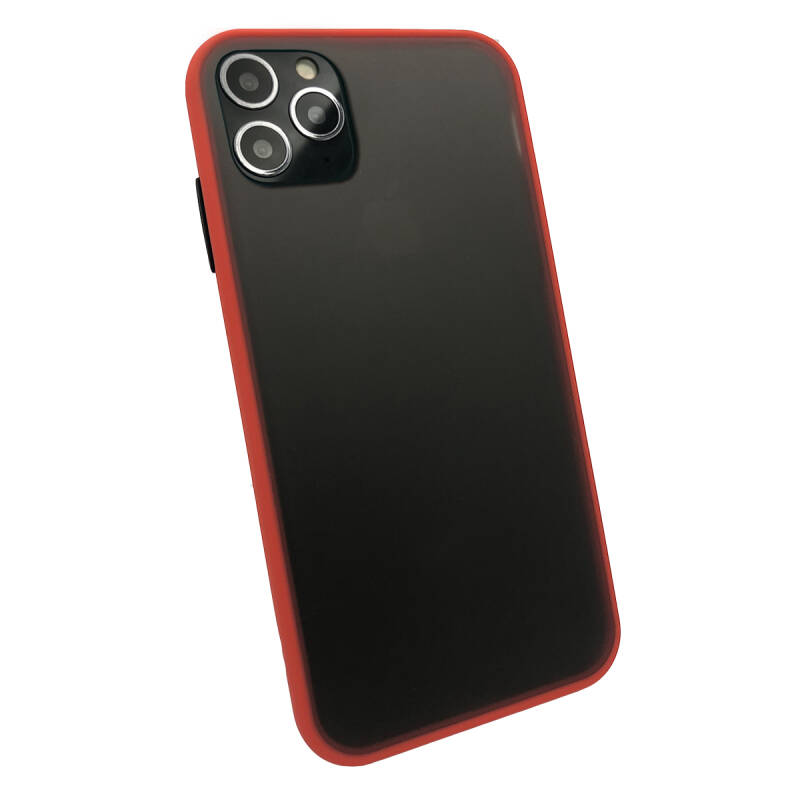 Colorbutton Backcover voor de iPhone 11 Pro Max - rood