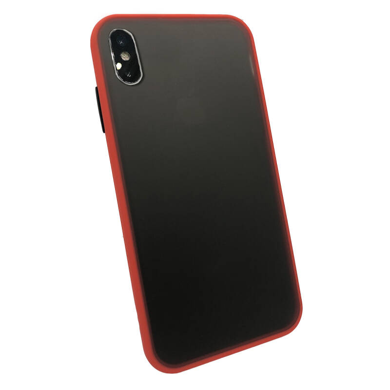 Colorbutton Backcover voor de iPhone Xs Max - rood