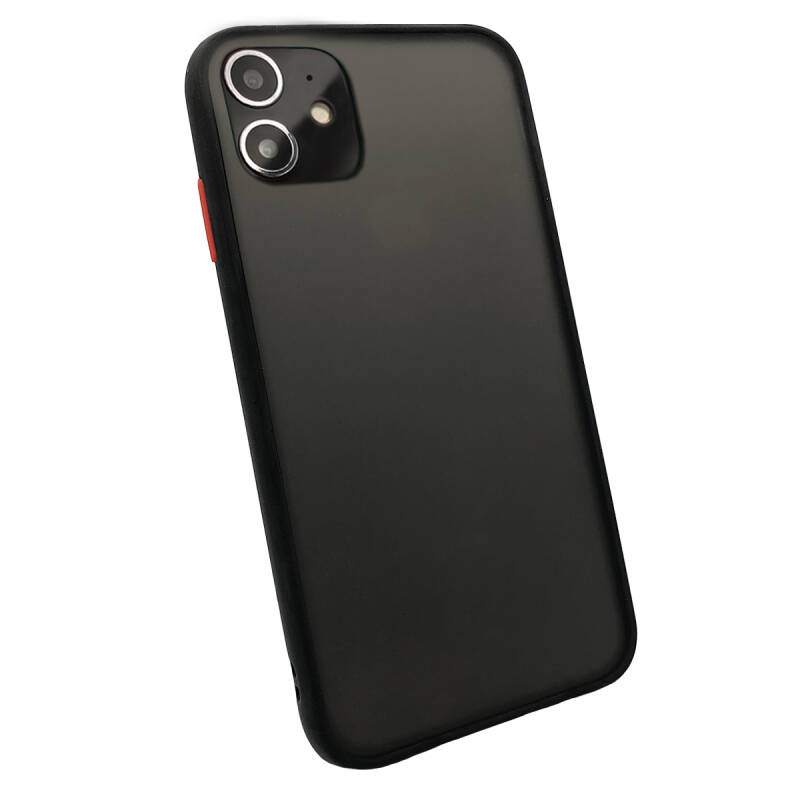 Colorbutton Backcover voor de iPhone 11 - zwart