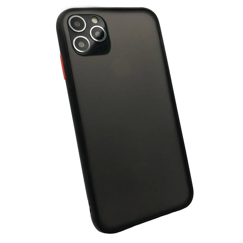 Colorbutton Backcover voor de iPhone 11 Pro - zwart