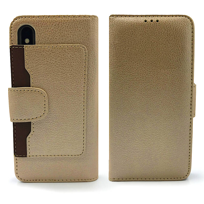Booktype Wallet case, hoesje voor de iPhone X/ Xs - Goud