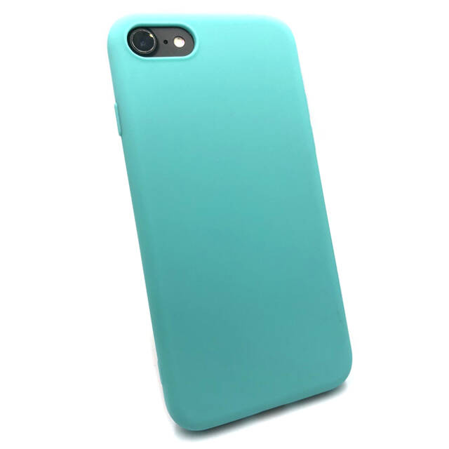 Softgrip Backcover voor de iPhone 8 Plus / 7 Plus - Licht blauw
