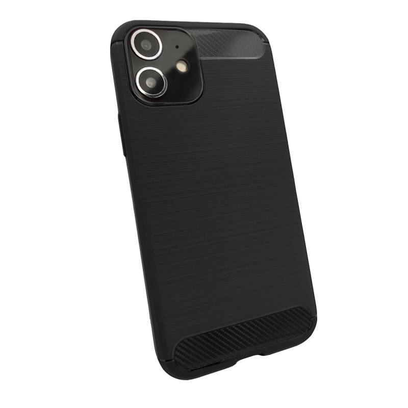 Slim Carbon hoesje voor de iPhone 12 mini - zwart