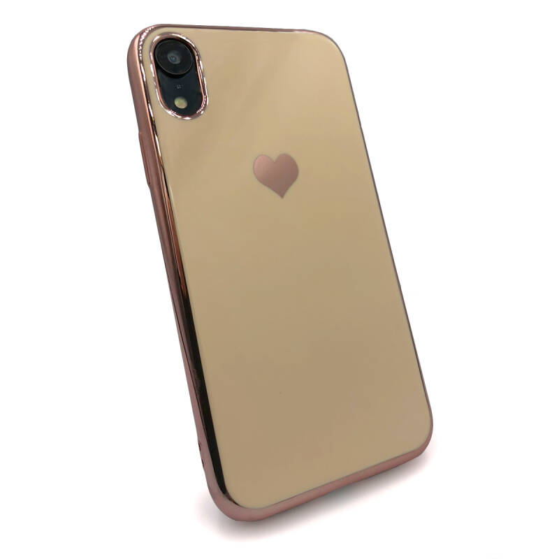 Gold love hoesje voor de iPhone XR - Roze goud