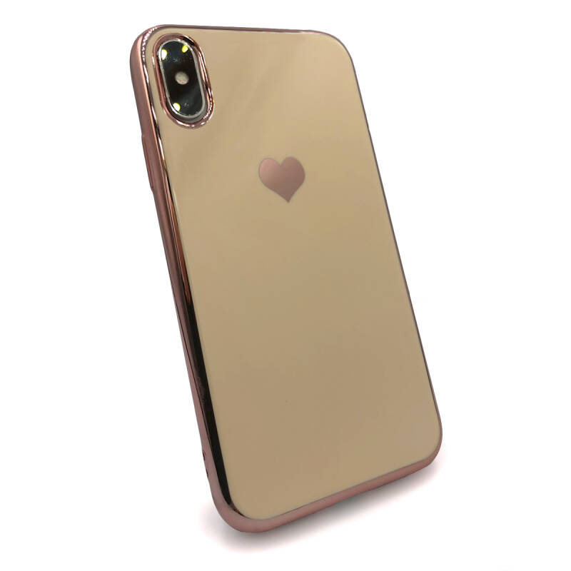 Gold love hoesje voor de iPhone X / Xs - Roze goud