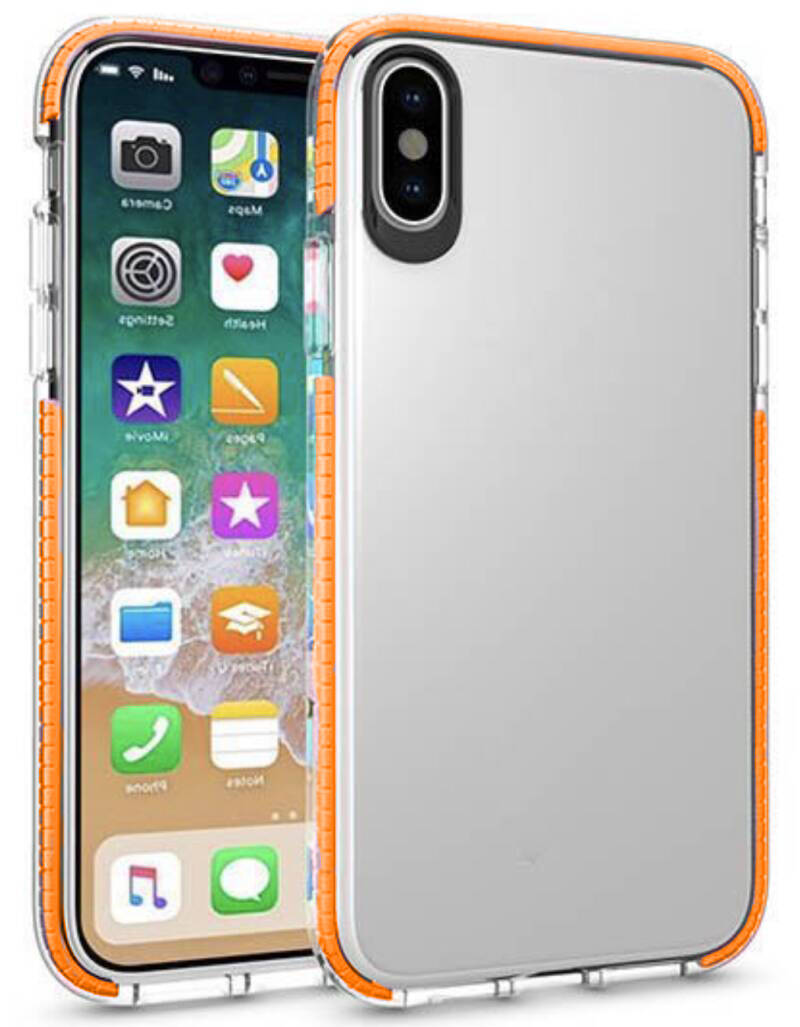 Transparant hoesje voor de iPhone XR - Oranje