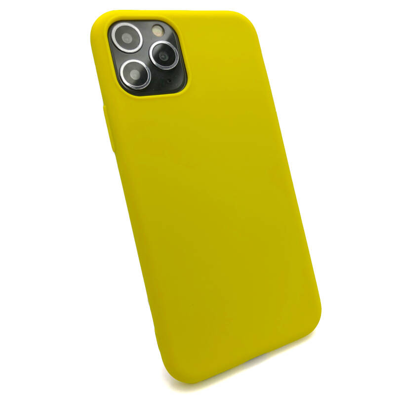 Softgrip Backcover voor de iPhone 11 Pro Max - Geel