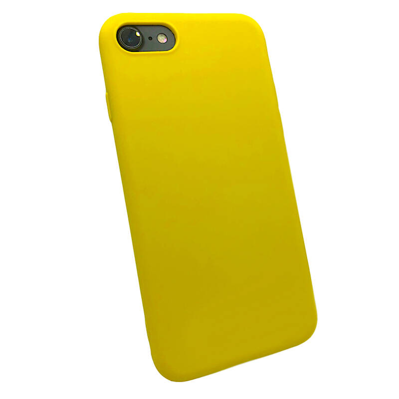 Softgrip Backcover voor de iPhone 8 Plus / 7 Plus - Geel