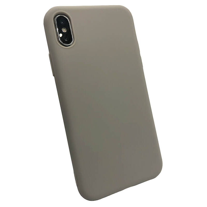 Softgrip Backcover voor de iPhone Xs Max - Grijs