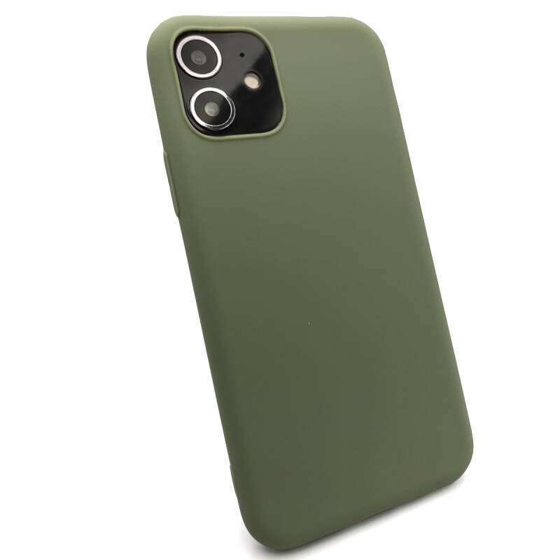 Softgrip Backcover voor de iPhone 11 - Groen
