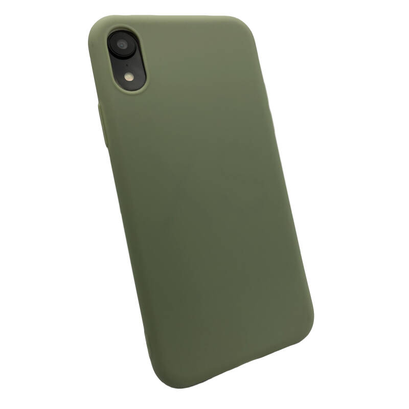 Softgrip Backcover voor de iPhone XR - Groen