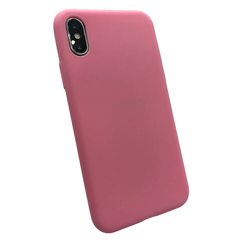 Softgrip Backcover voor de iPhone X / Xs - Knal roze