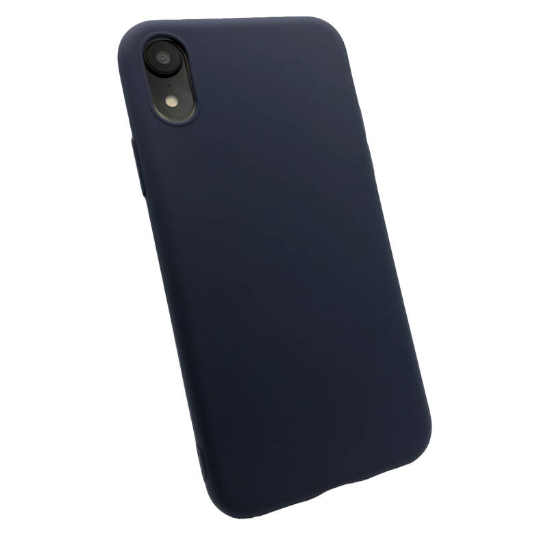 Softgrip Backcover voor de iPhone XR - Blauw