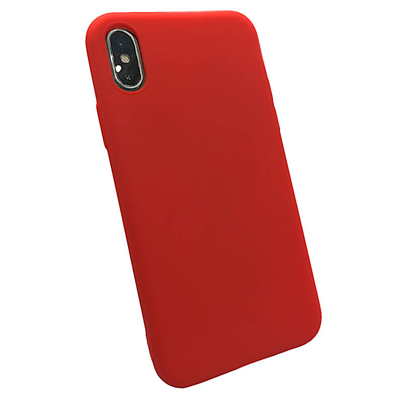 Softgrip Backcover voor de iPhone Xs Max - Rood