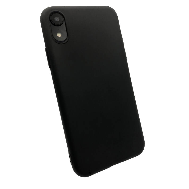 Softgrip Backcover voor de iPhone XR - Zwart