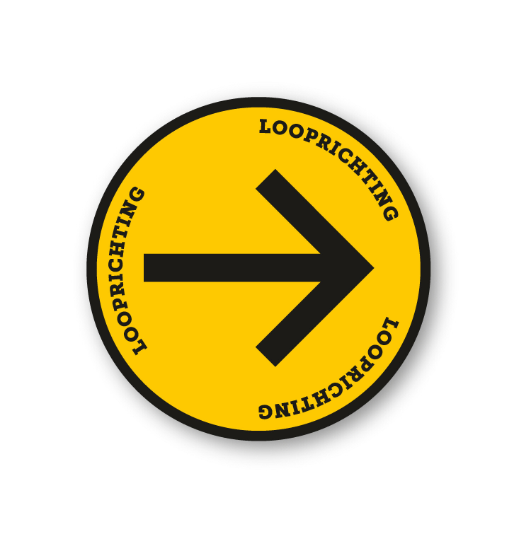 Tapijtsticker rond looprichting