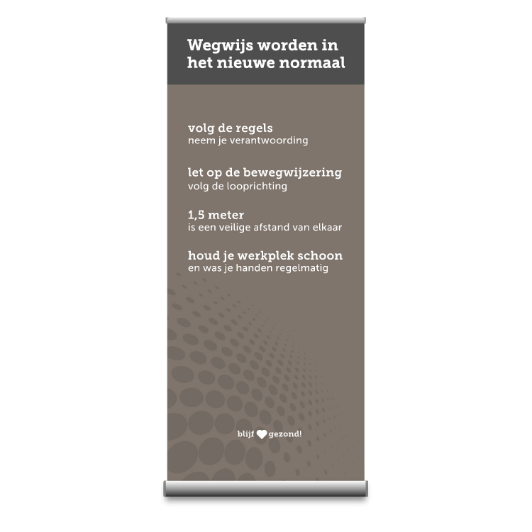 Rollup banner basic grey