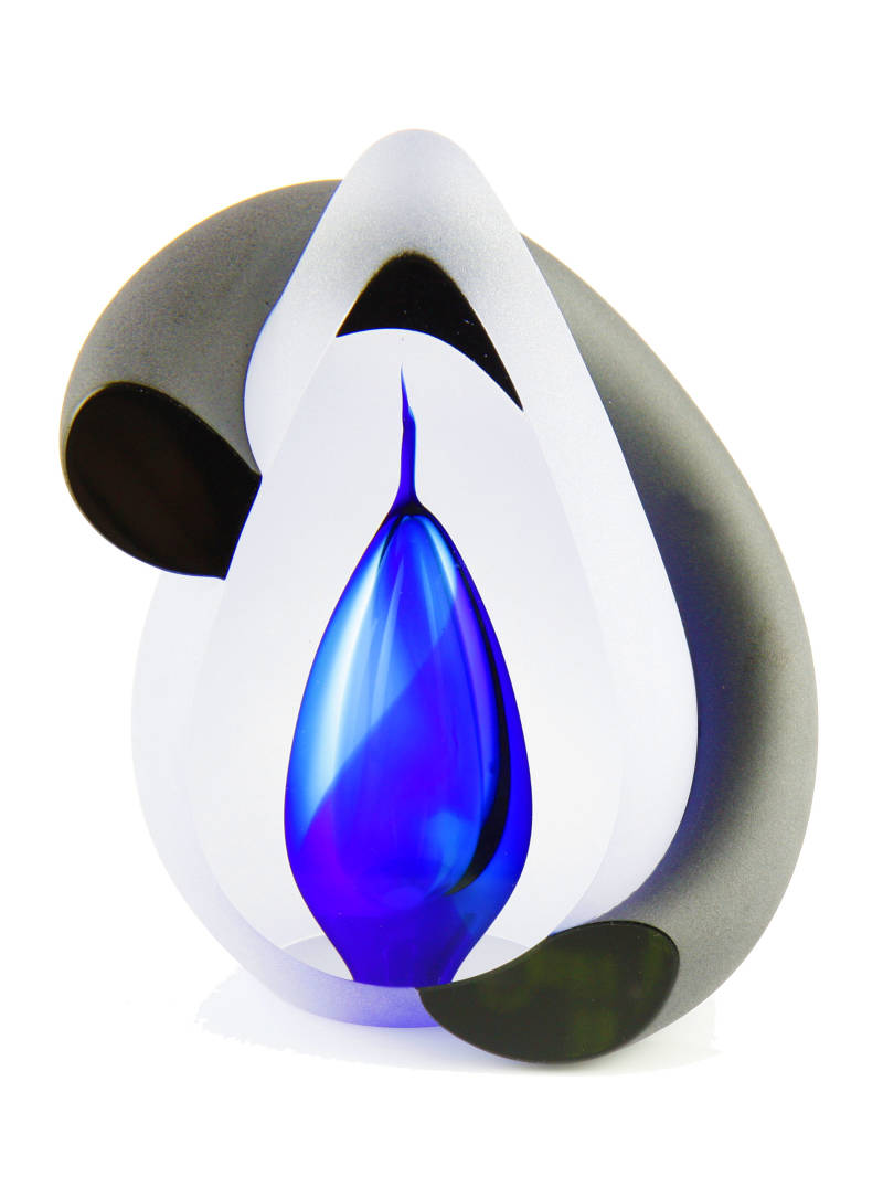 A01B Bow blue | Glas | As-urn-ornament