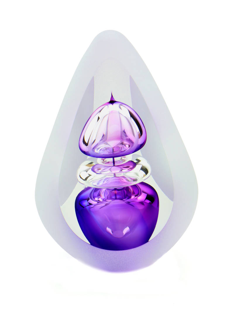 A05OSP Orion Small purple | Glas | As-urn-ornament