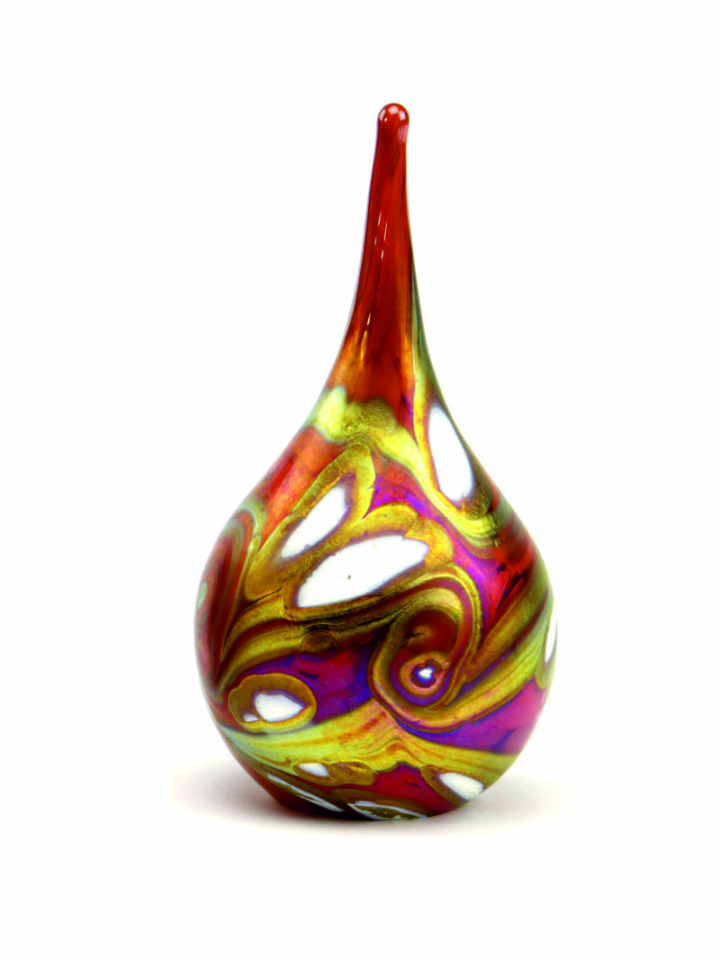 Traan E02DR Red drop | Glas | As-urn-ornament