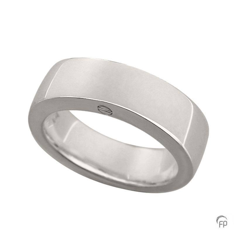 R 033.6 Assieraad ring glanzend zilver