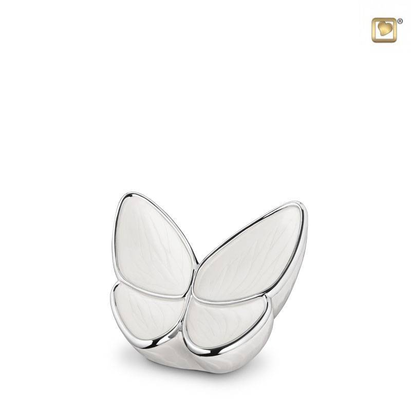BF 003 K Messing keepsake Butterfly | Vlinder beige