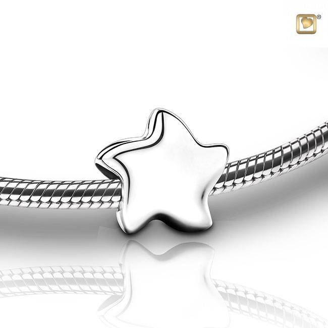 BHS 006 Asbedel bead star | Ster zilver