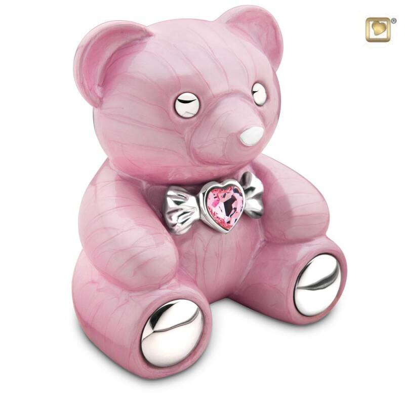 CB 001 Messing urn Cuddle Bear | Beer roze