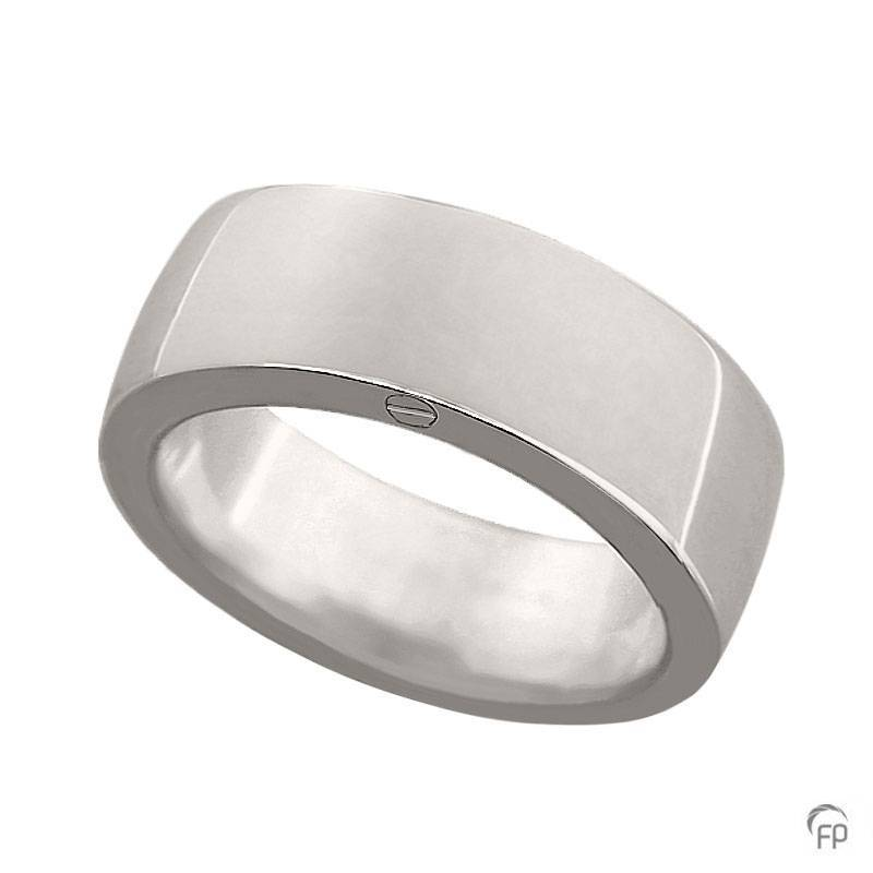 R 033.8 Assieraad ring glanzend zilver
