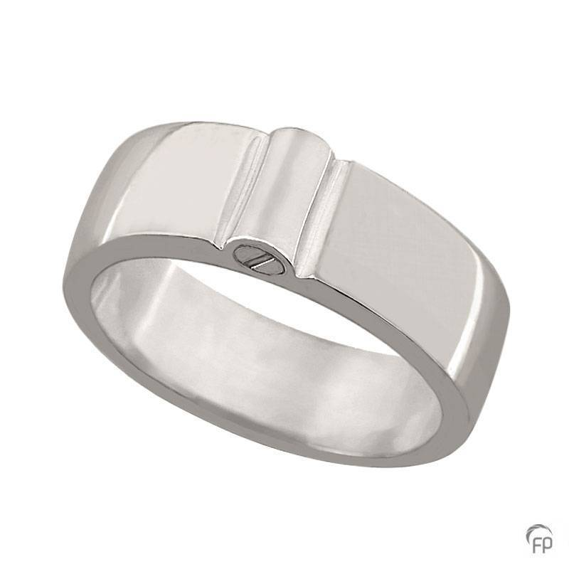 R 038.8 Assieraad ring glanzend zilver