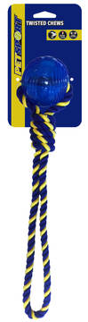 Braided Knot Tug Medium with TPR Ball 35 cm