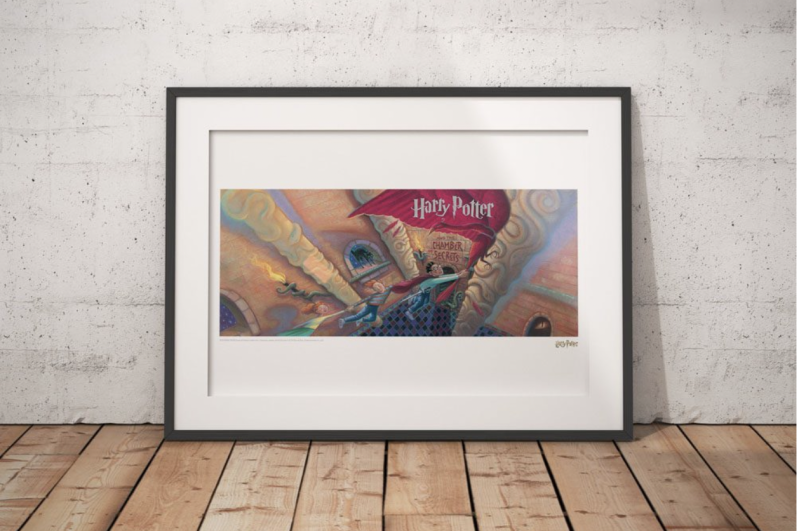 Harry Potter - Artwork Print Chamber of Secrets Book Cover - Limited Edition