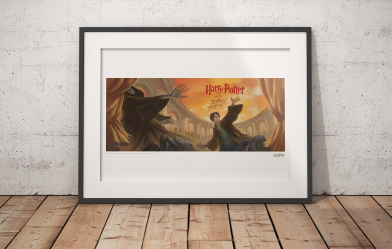Harry Potter - Art Print Deathly Hallows Book Cover Artwork - Limited Edition